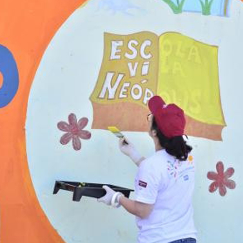 Bright colors engage students in Brazil